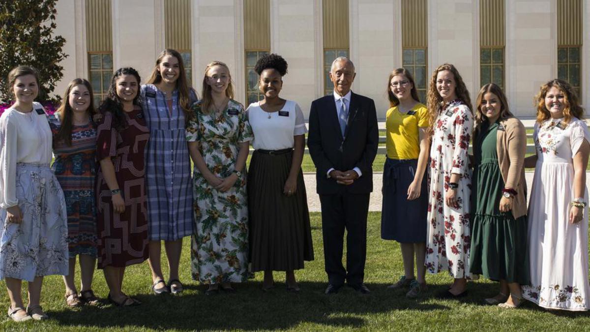 President Portugal Marcelo Rebelo de Sousa Visits Lisbon Temple 2019