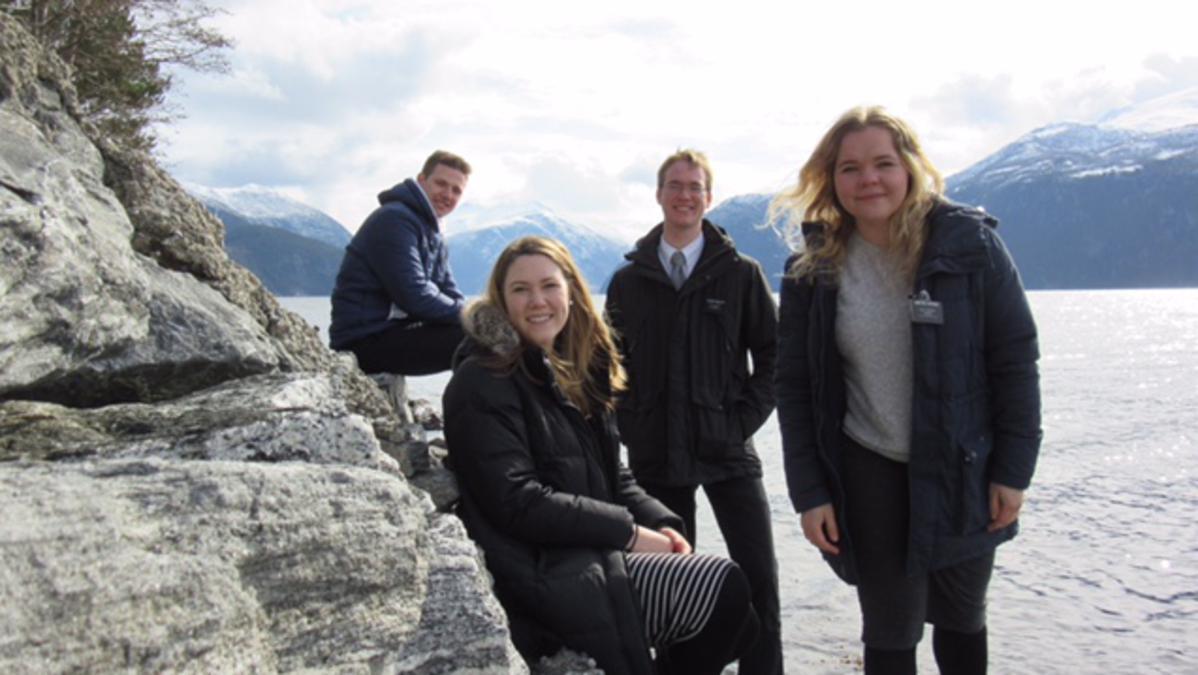 Søster Horgmo med andre misjonærer
