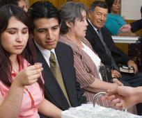 people taking sacrament