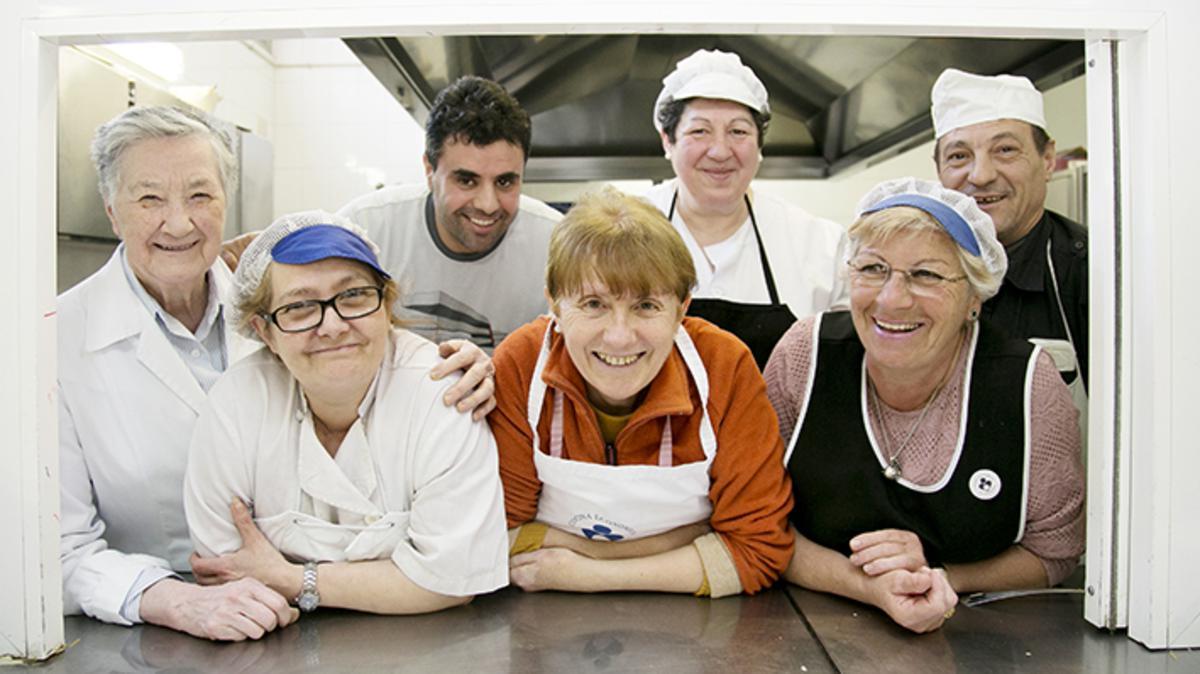 Empleados de la Cocina Económica de Logroño