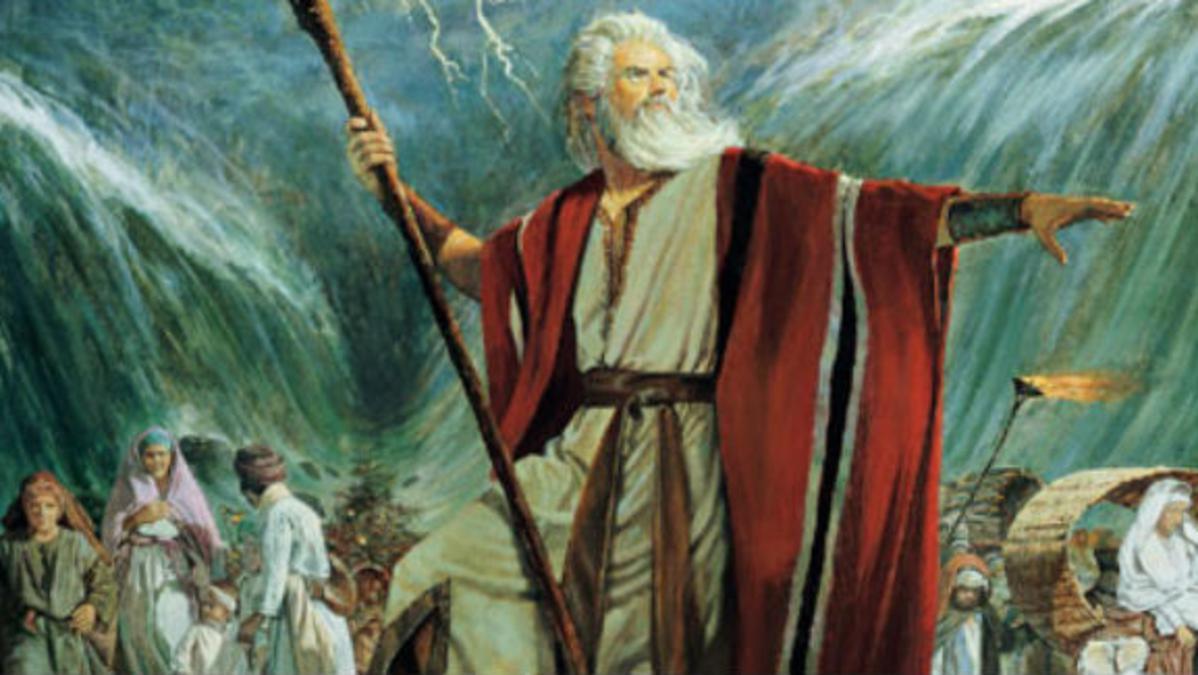Moisés divide el mar Rojo
