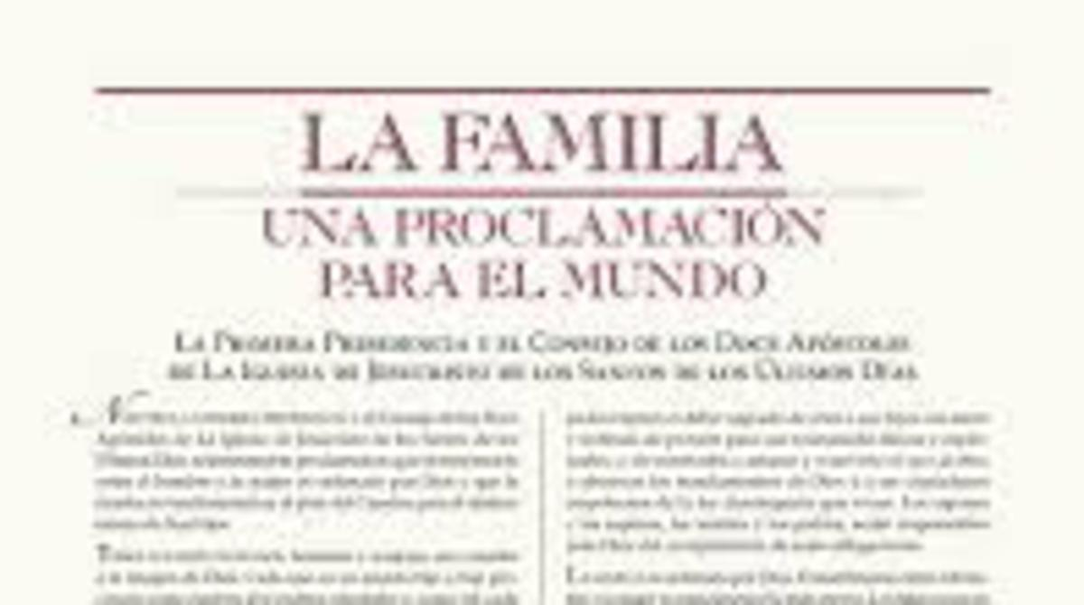Proclamación sobre la familia