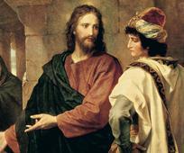 Jesús habla con el joven rico