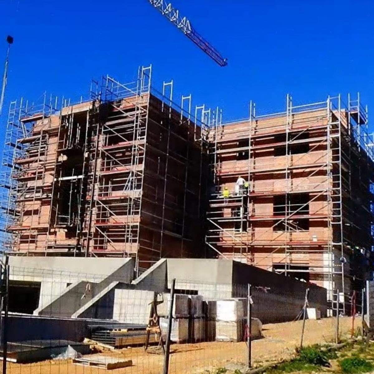 Fase de construcción de la capilla de Tarragona