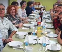 Miembros de la Iglesia en la cena de la celebración del 125 aniversario de la Cocina Económica de Logroño