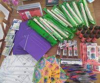 Material escolar donado