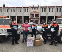 Protección civil de Jaén agradeciendo