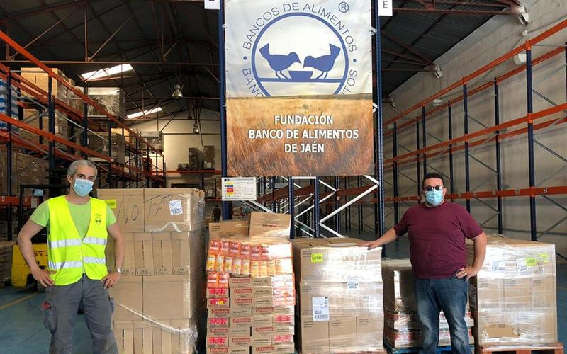 Donación recibida en el Banco de Alimentos de Jaén