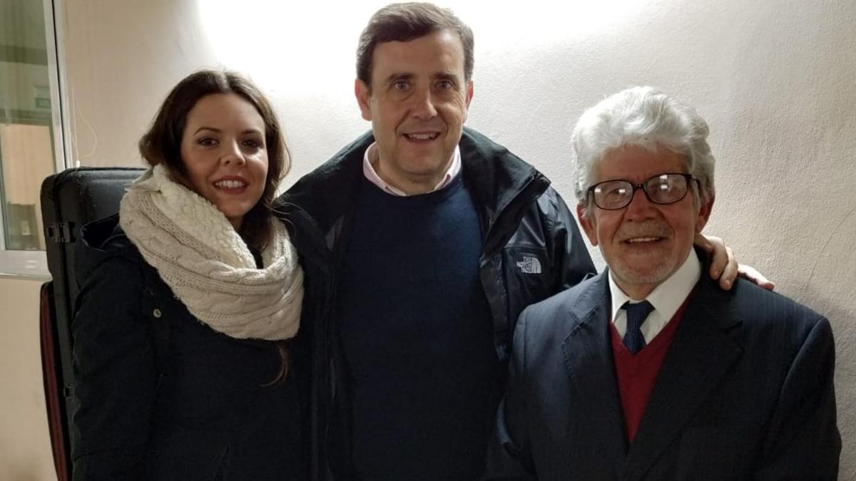 Ruth Martínez, Presidente Francisco Martínez y Fernando Rodríguez, Presidente de la Asociación Judería Cádiz.