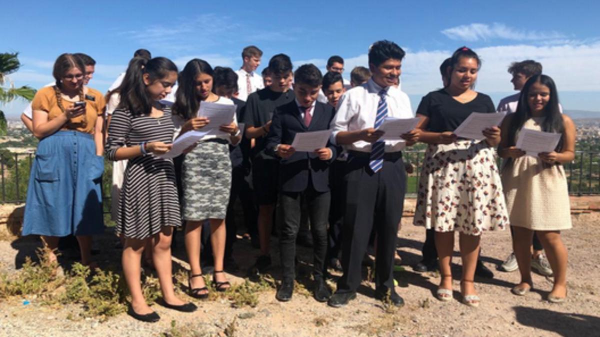 El coro de jóvenes