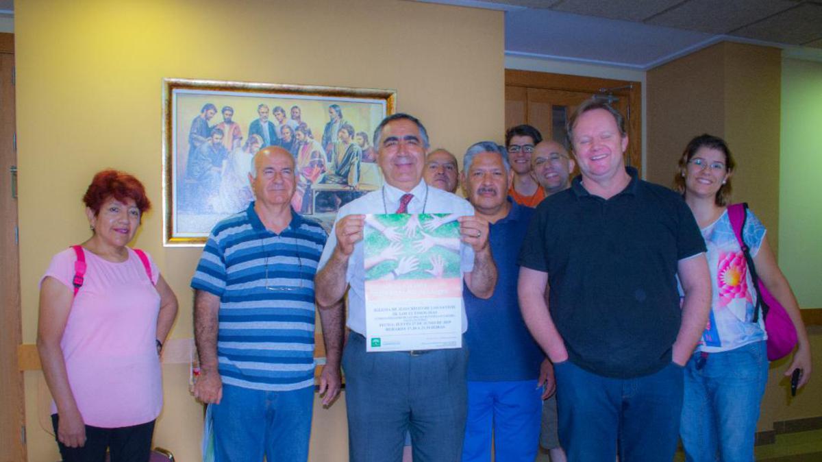 Participantes de la donación de sangre en la estaca de Sevilla