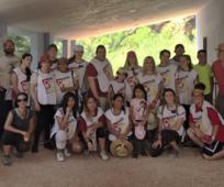 Voluntarios de la Estaca de Cartagena ayudando en el Rio Chicamo para el dia Nacional del Servicio