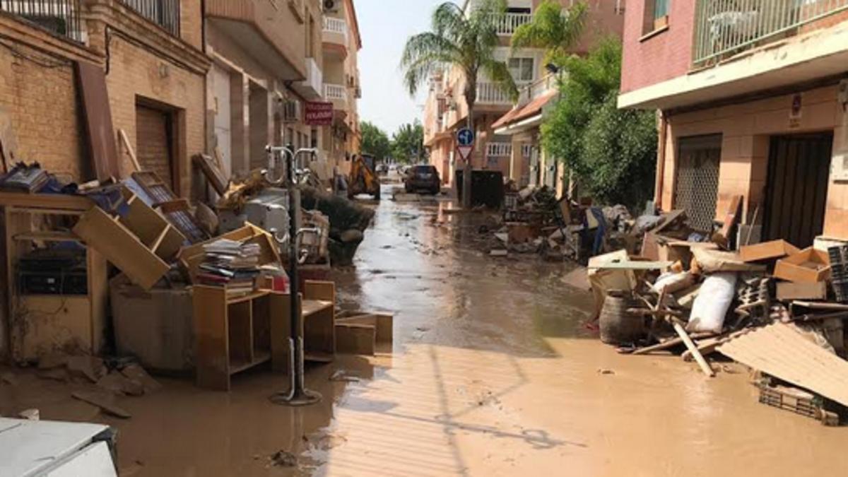 Las calles de Los Alcázares tras el desastre