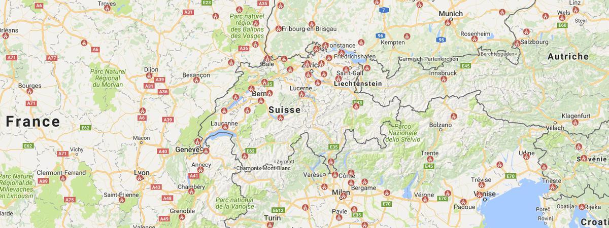 Suisse Map