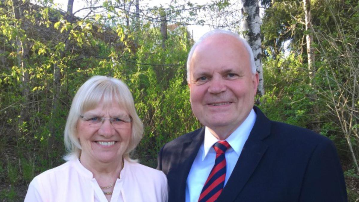 Ingvar och Barbro Olsson, det nya tempelpresidentparet för templet i Köpenhamn