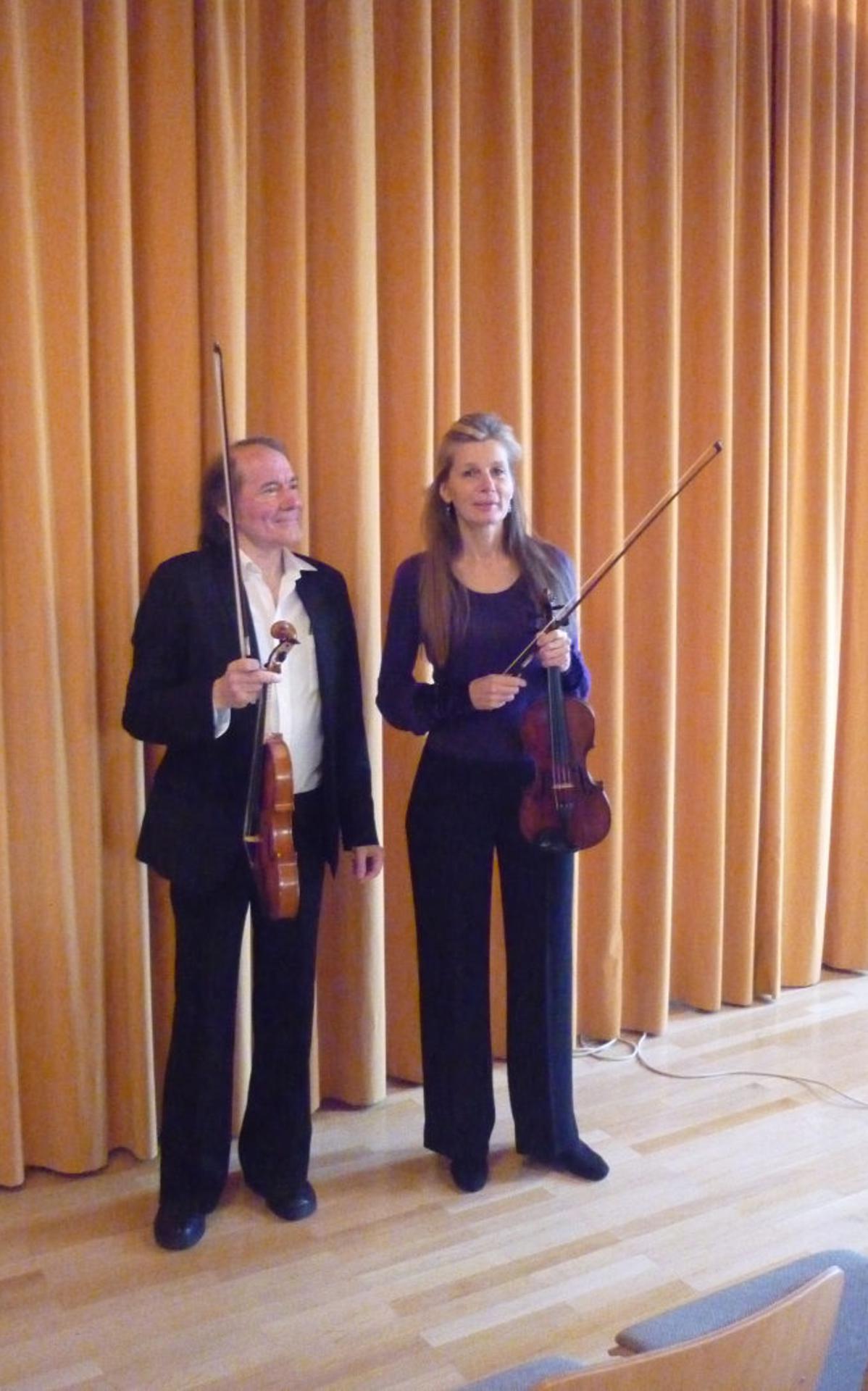 Die beiden Virtuosen des Geigenensembles