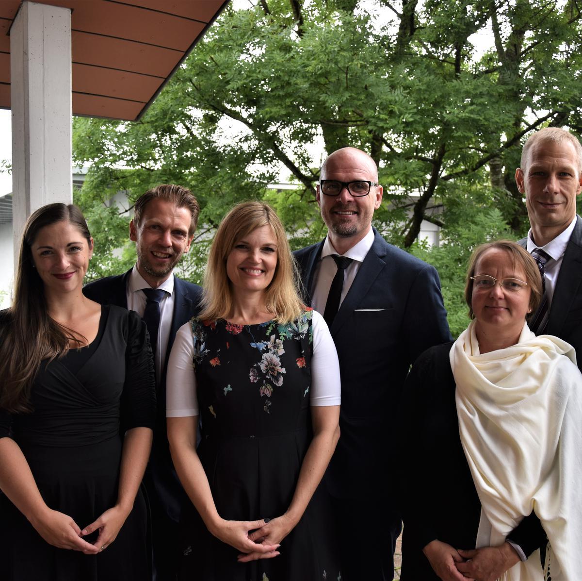 Neue Bischofschaft Richterswil mit Ehefrauen
