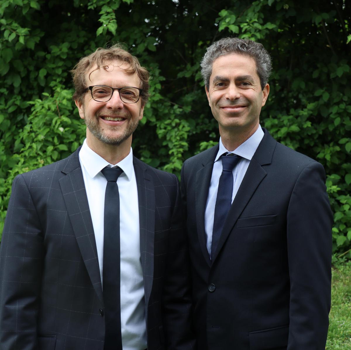 Links Sandro Kriesch und rechts David Michels
