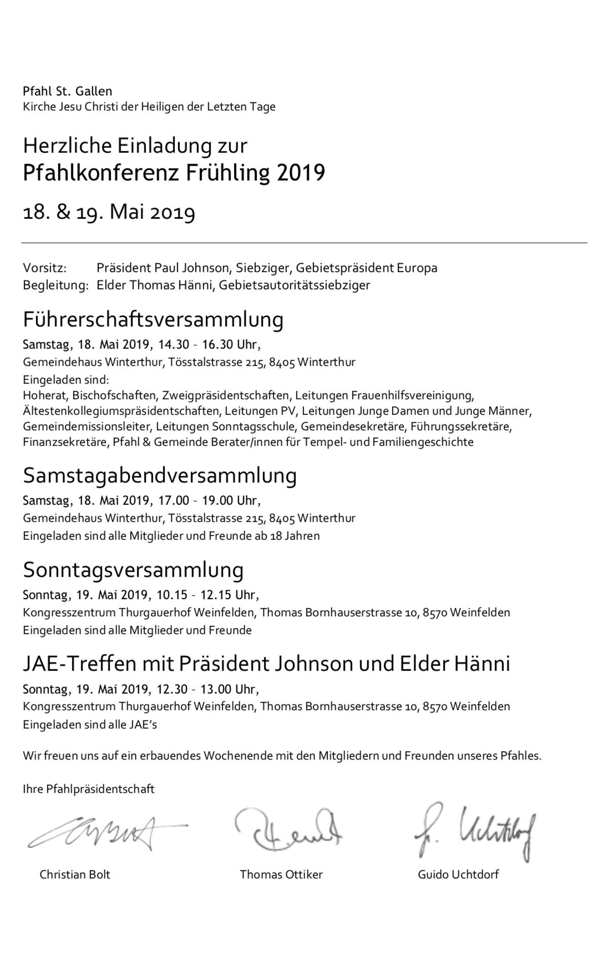 Pfahlkonferenz St. Gallen