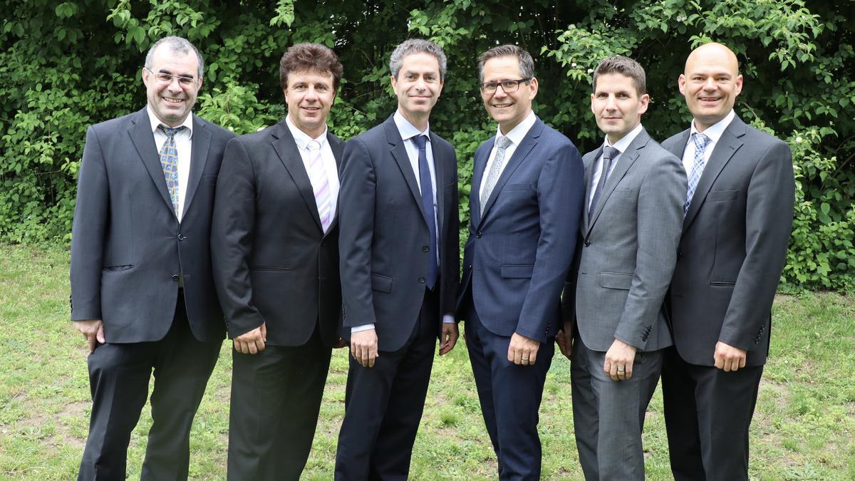 v.l.n.r., Werner Obrist, Rocco Maglio, David Michels, Christian Bolt, Thomas Ottiker, Guido Uchtdorf