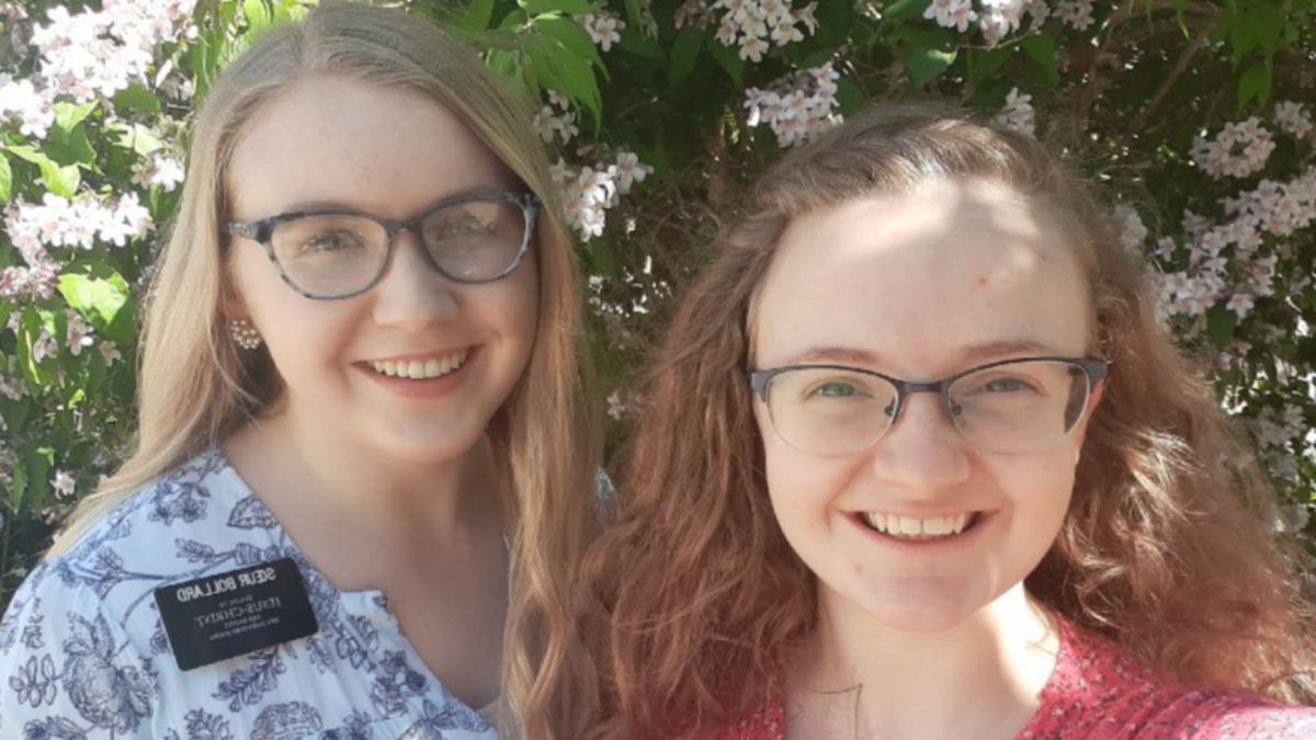 Sister Fearn (rechts) und Sister Bollard (links) aus der Frankreich-Mission Paris.