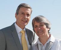 Präsident und Schwester Brenders