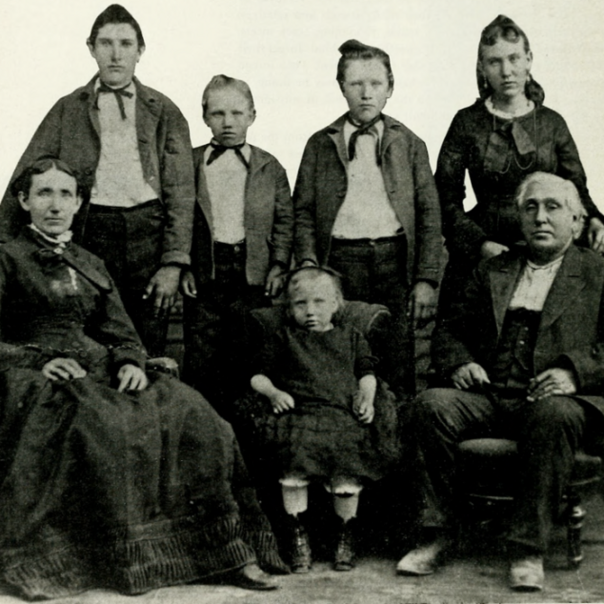 Samuel Mulliner and his family