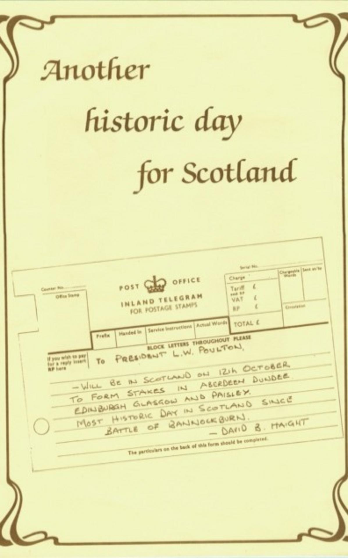 This telegram was included in the conference programme.