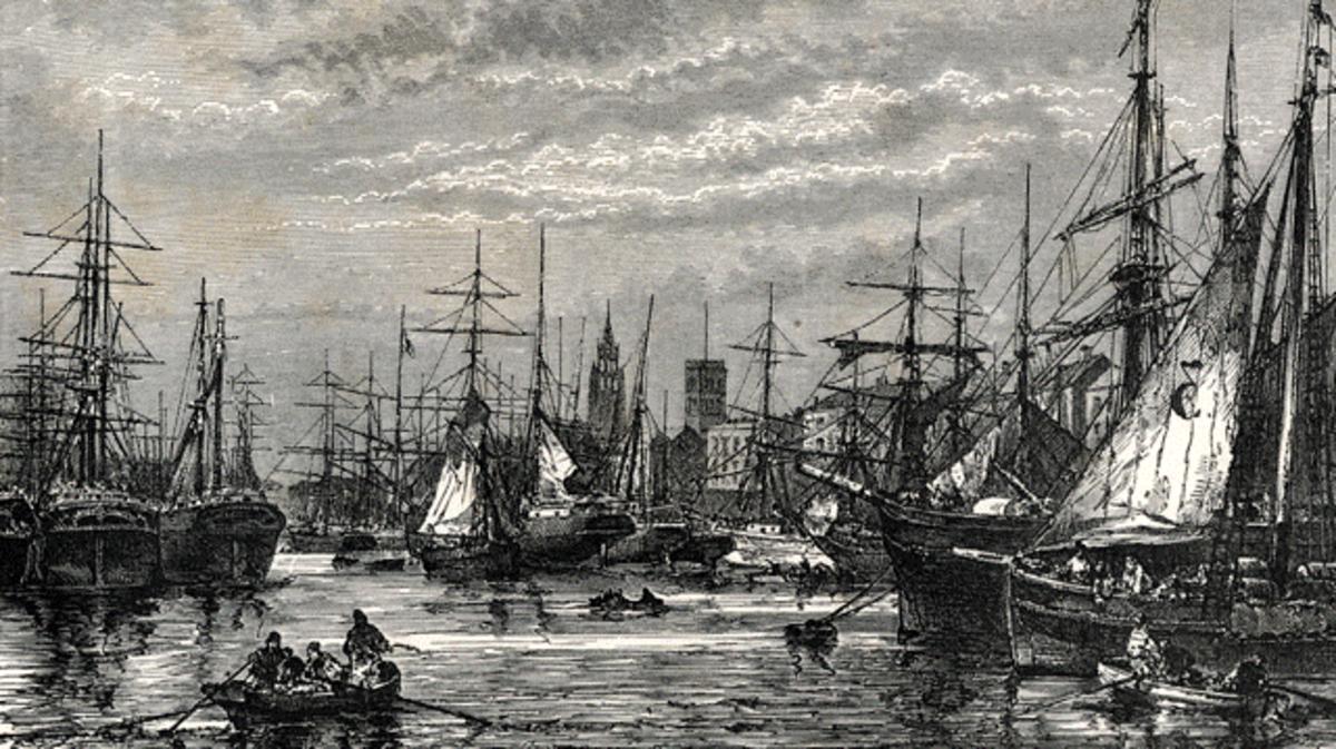 Liverpool Docks in the mid-nineteenth century