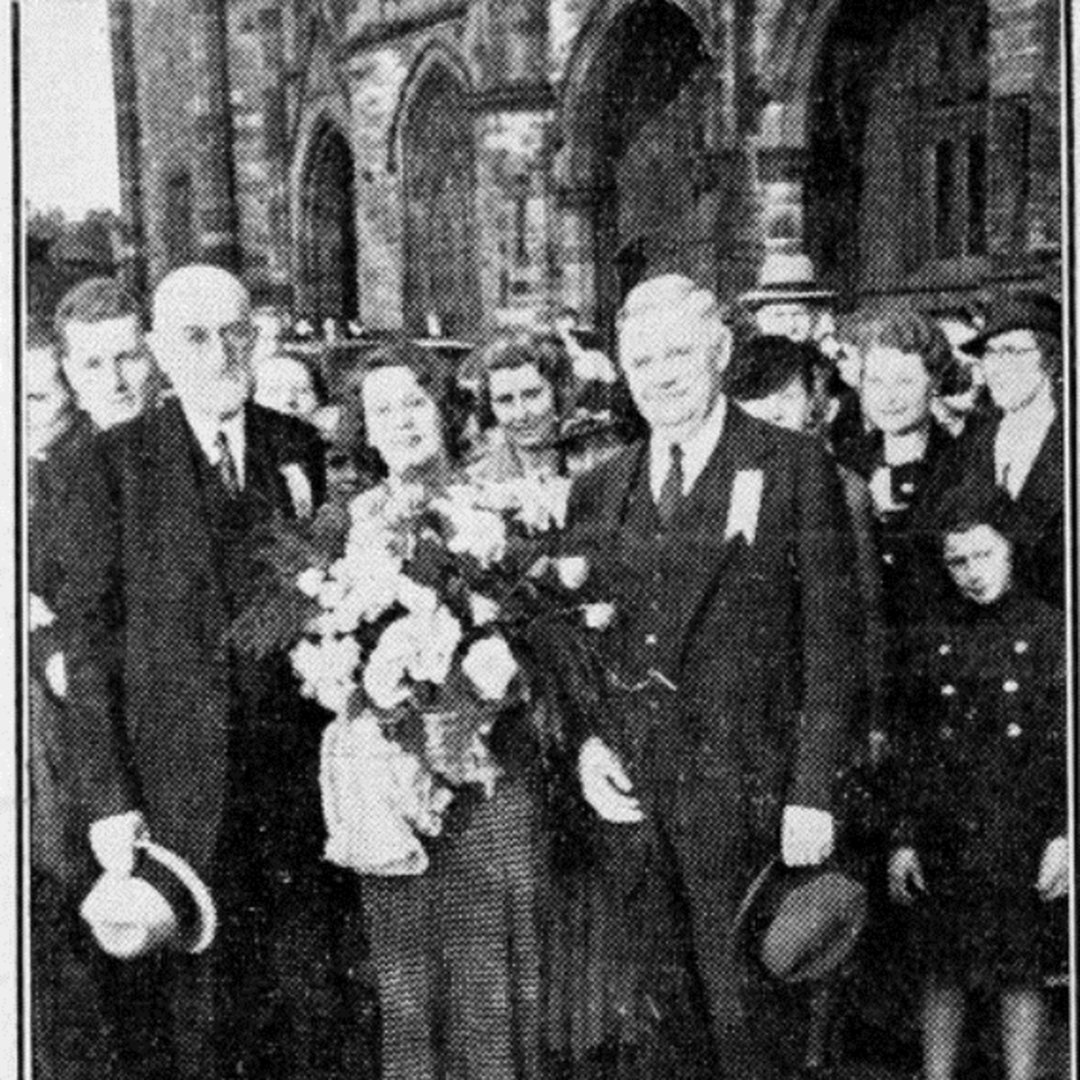 President Heber J. Grant, Catherine Horner, and J. Reuben Clark, July 1937