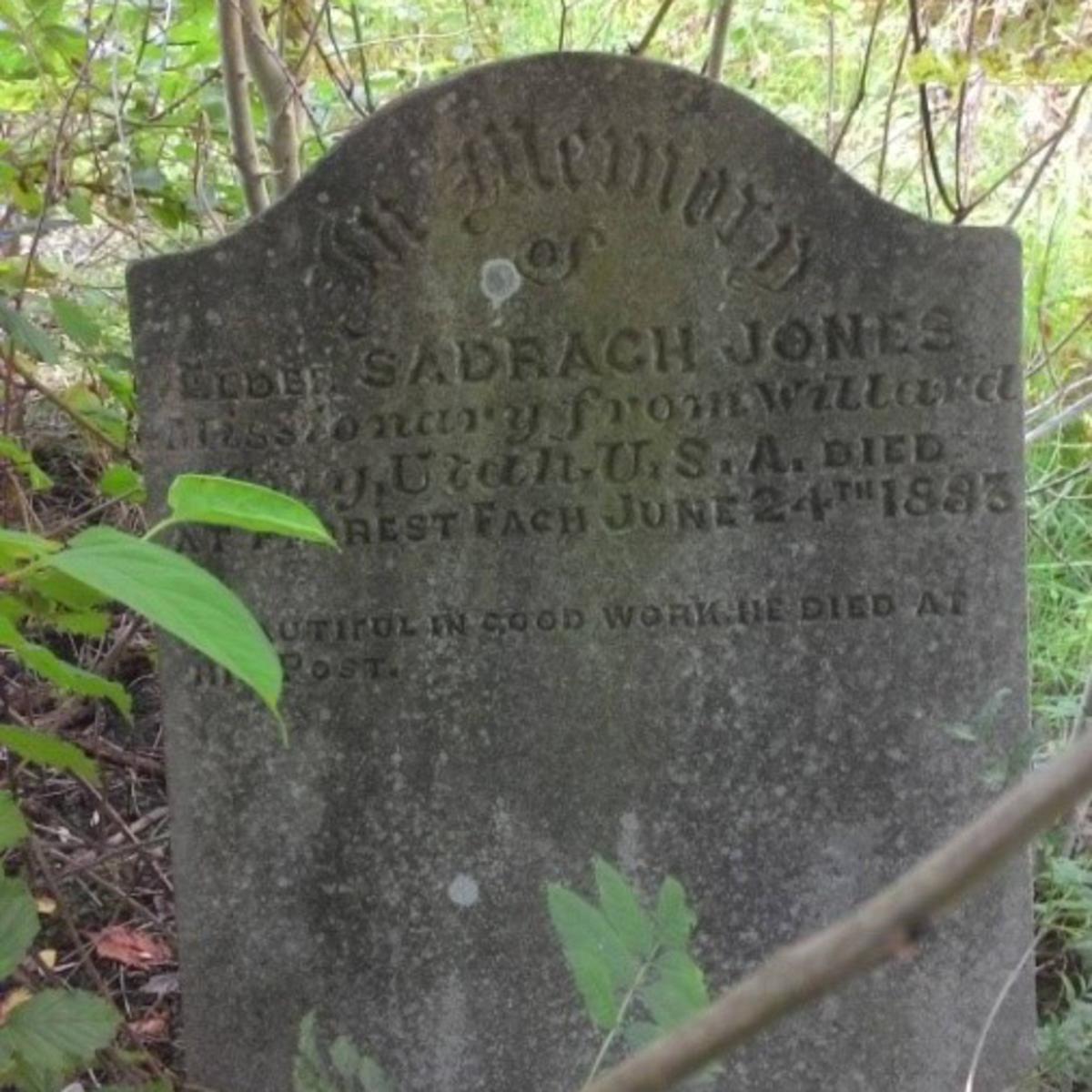 Stone of Shadrach Jones