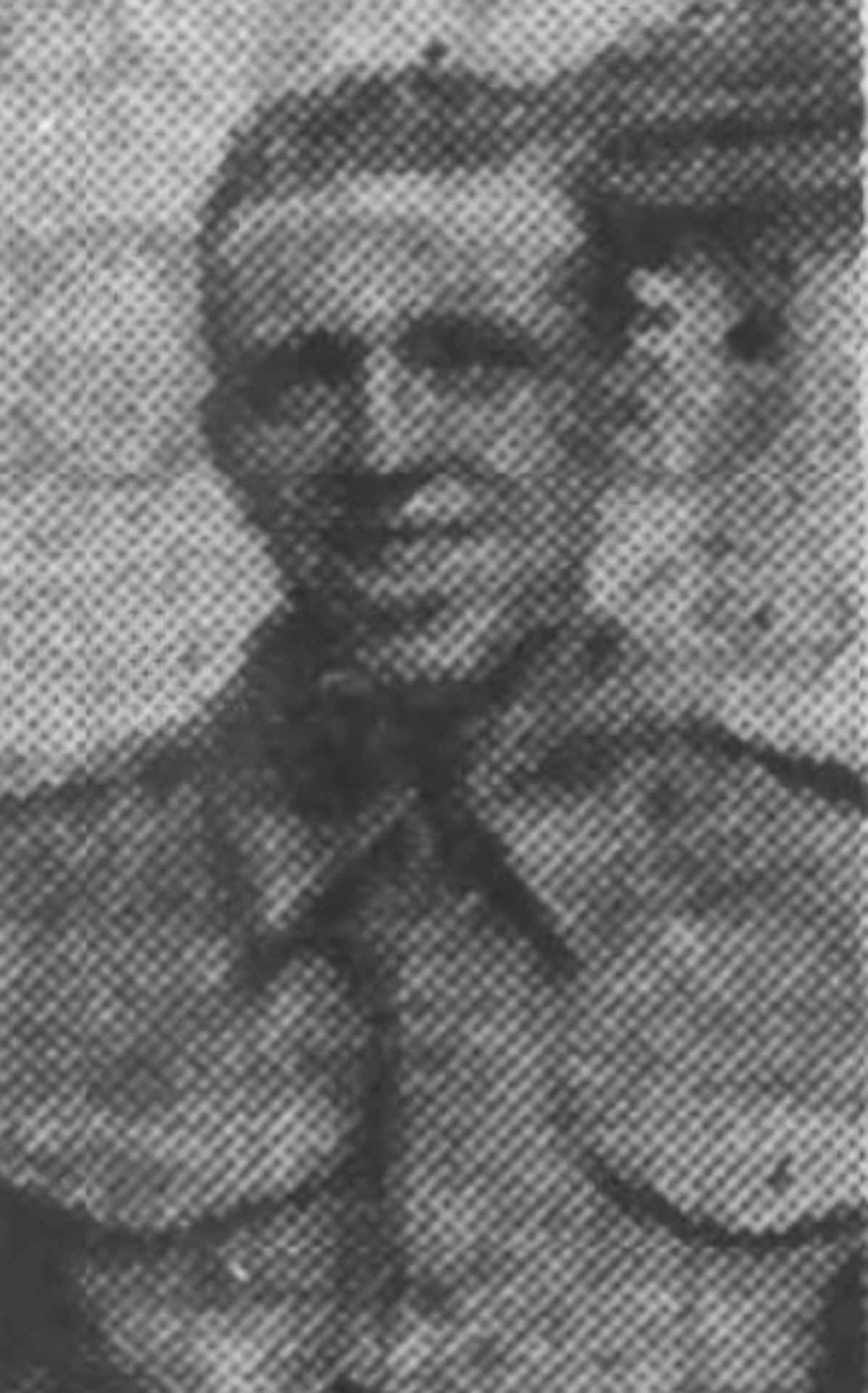 Photograph of Albert in his military dress, notification in local news