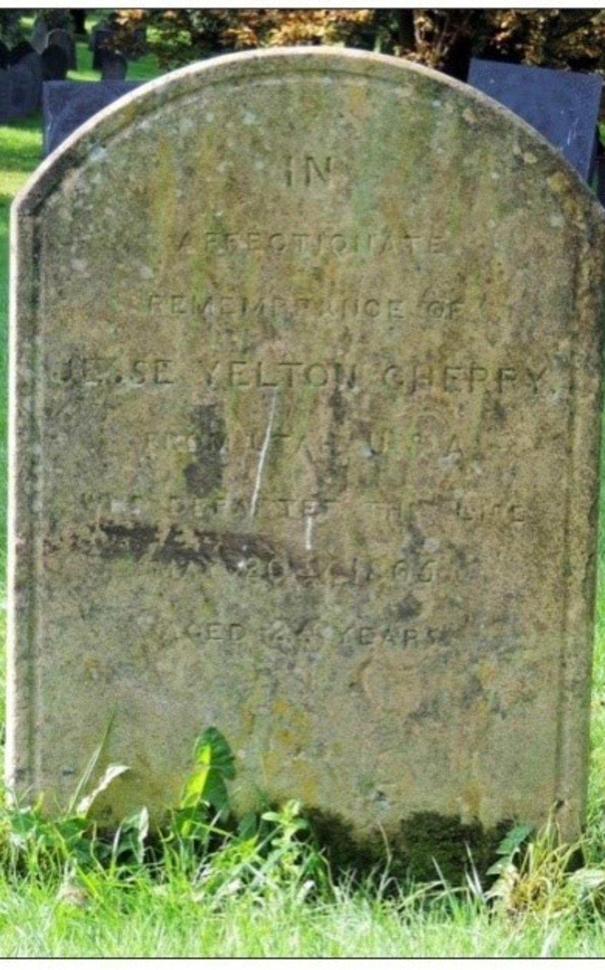 Stone of Jesse Yelton Cherry