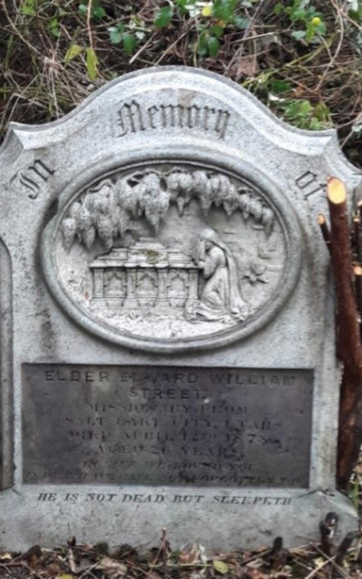 Stone of Edwin William Street