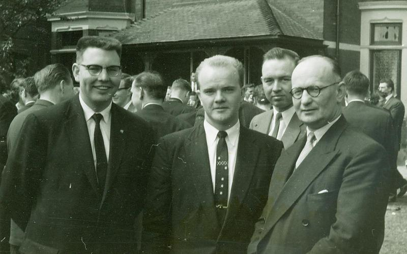 Tunstall Road, Sunderland in 1958. Left to right Elder Bowler, Kerr and Pres Oates