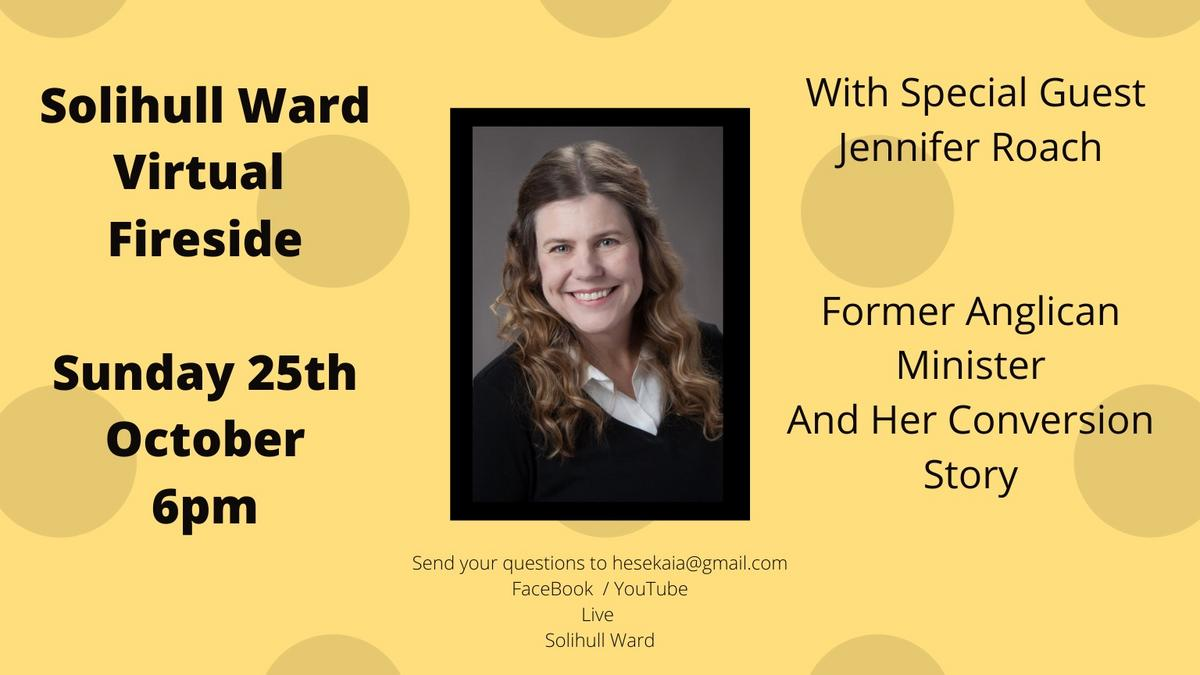 Fireside with Jennifer Roach - 25 October 2020 at 6pm