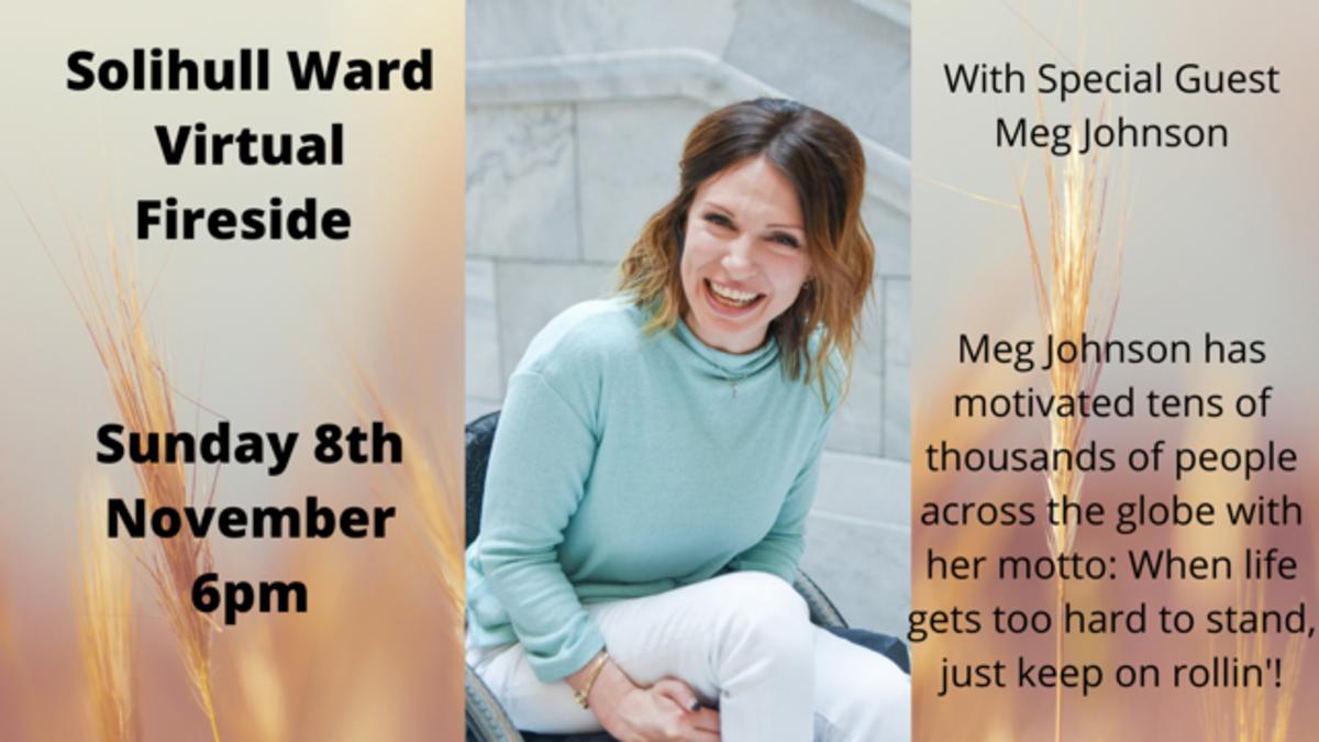Solihull Fireside with Meg Johnson - 8 Nov 2020 at 6pm
