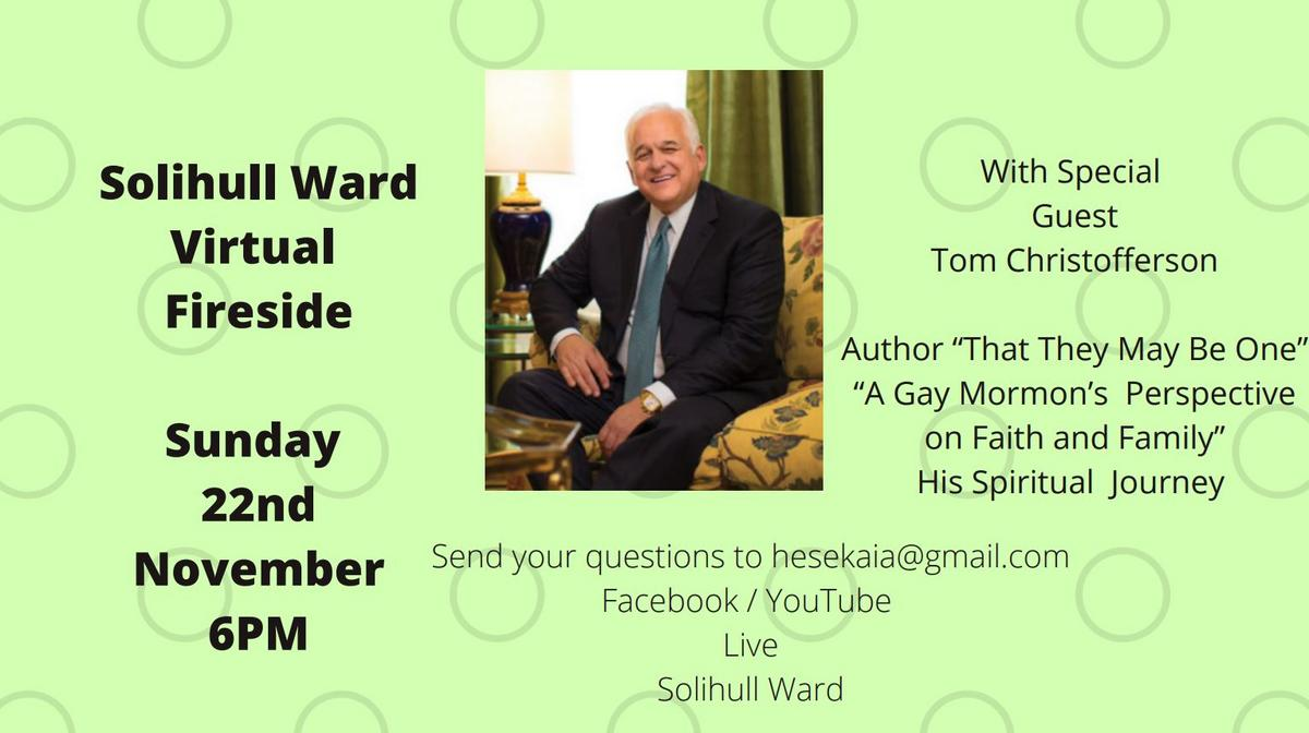Fireside with Tom Christofferson - 22 November 2020 at 6pm
