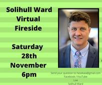 Solihull Fireside with Steven C. Harper - 28 November 2020 at 6pm