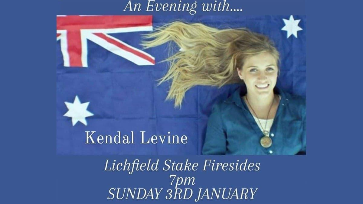 Fireside with Kendal Levine - 3 January 2021 at 7pm