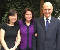 Vivian with Pres and Sister Nelson
