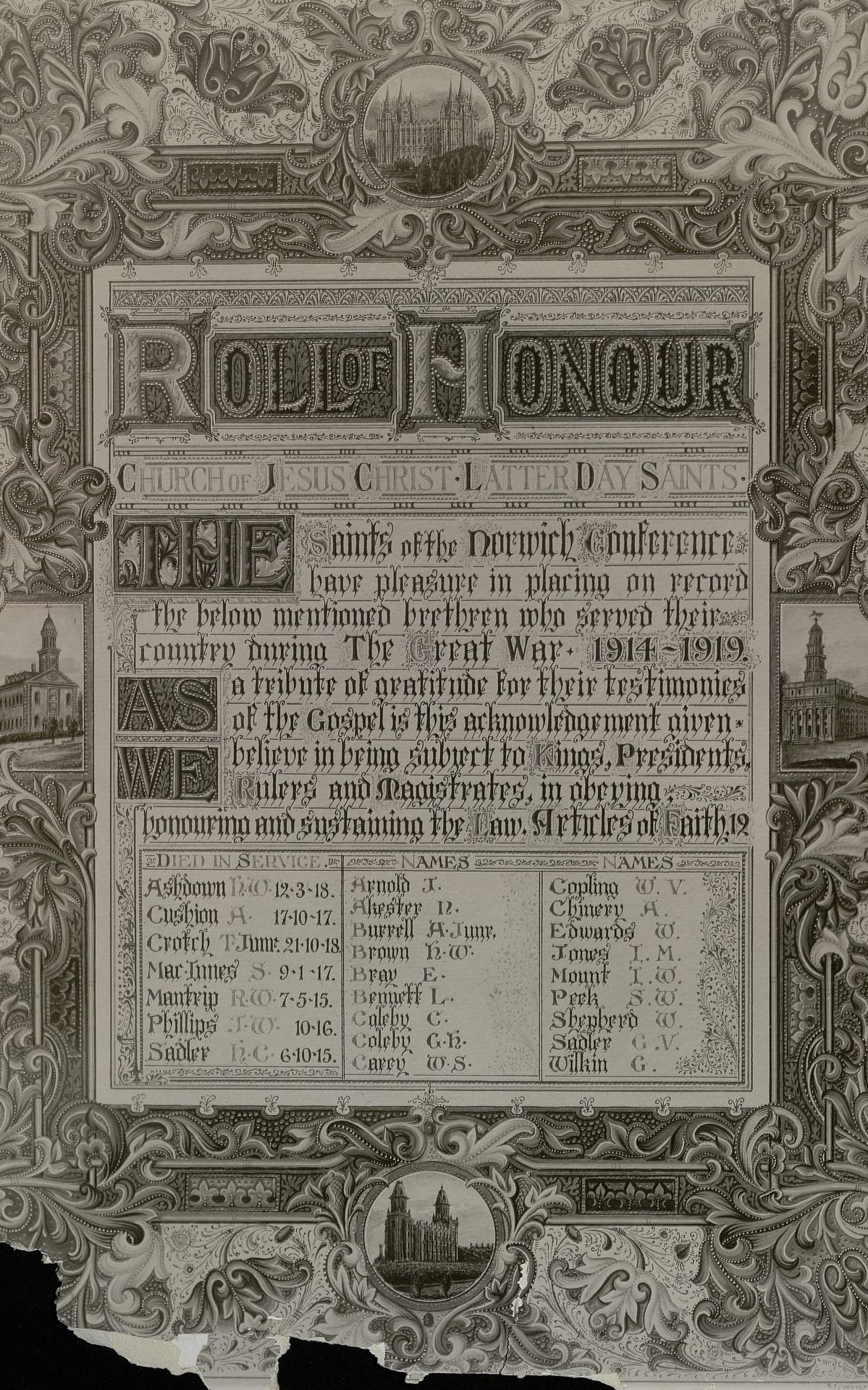 Norwich Roll of Honour