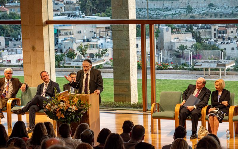 Elder Cook at the BYU Jerusalem Center