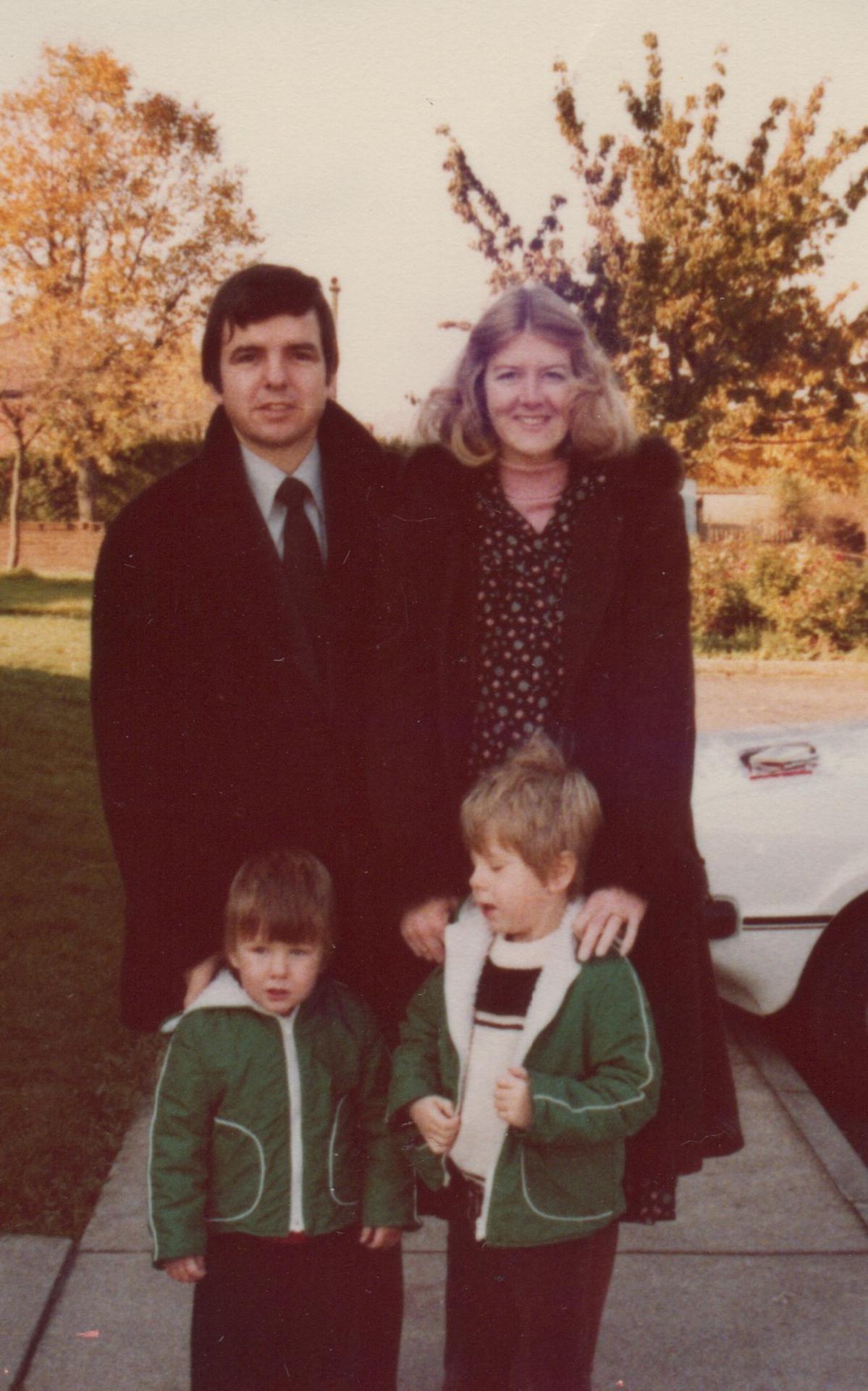 Chris & Jenny Woodward and sons David & Jason