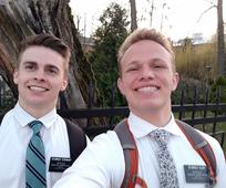 Elders Stewart and Oler Poland Warsaw Mission