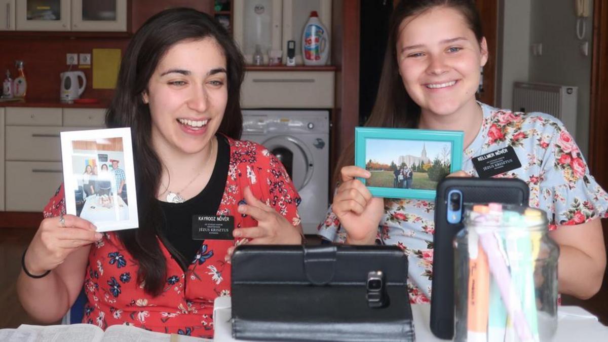 missionaries teaching lesson through video call