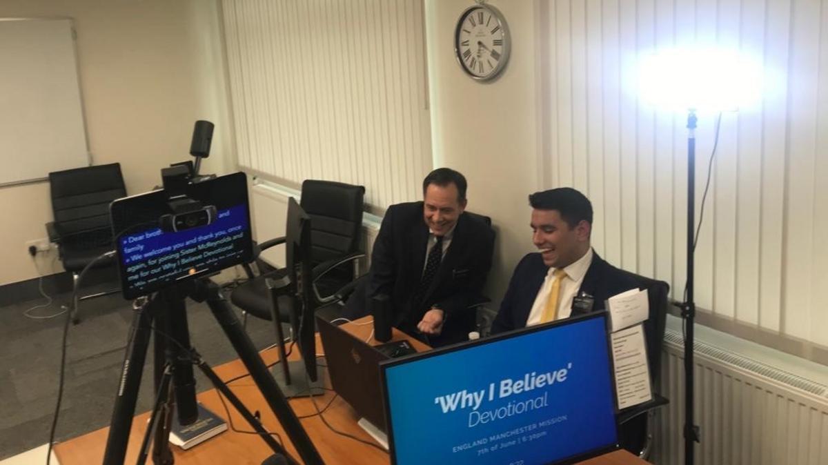 President McReynolds and Elder Torres