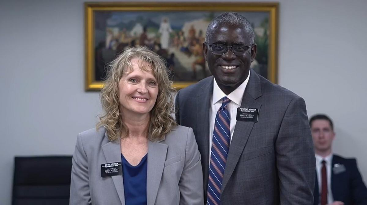 President and Sister Johnson at a 'Why I Believe' Devotional