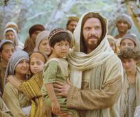 Christ holding a child