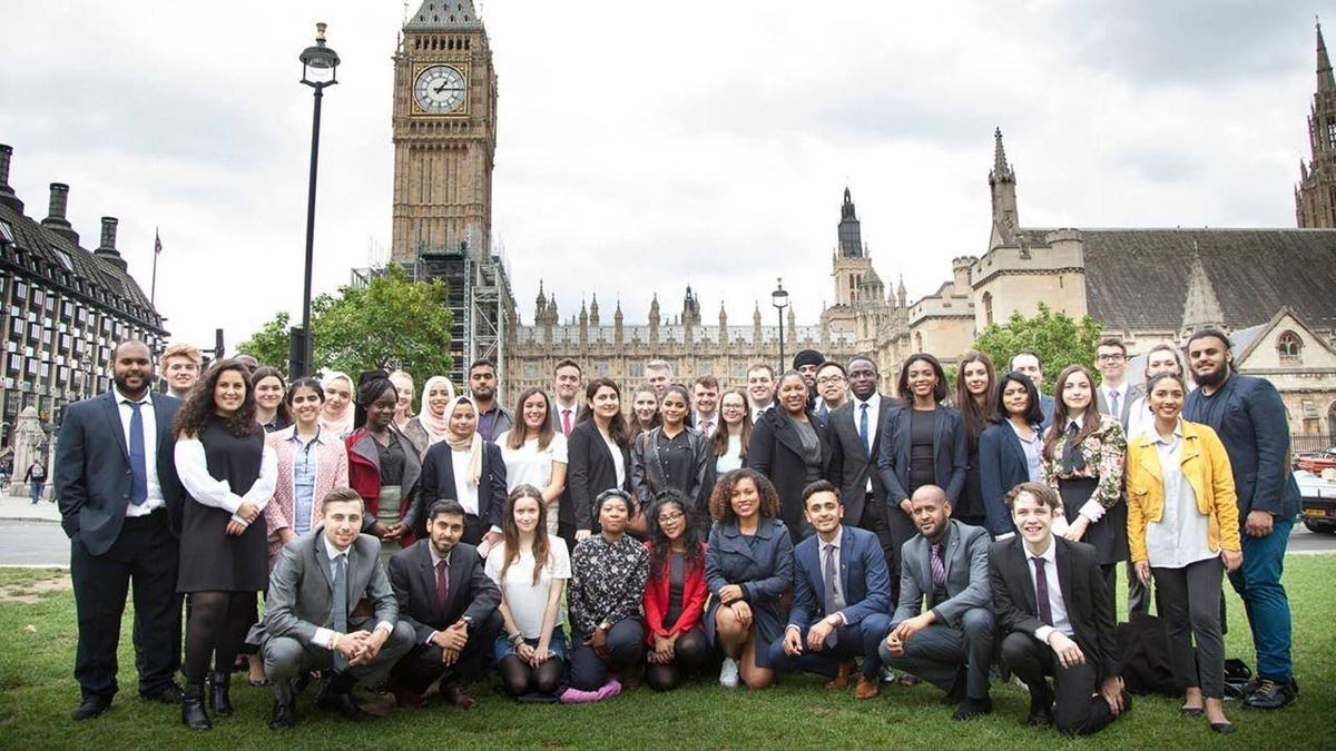 Parliamentors group photo outside Parliament